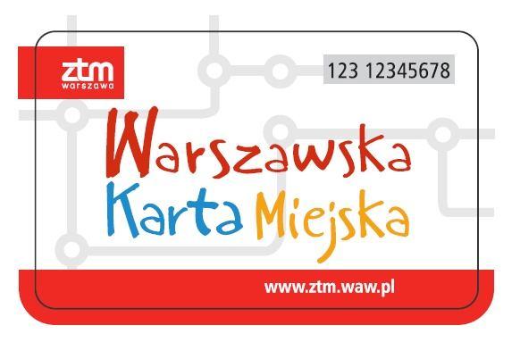 Przykładowy wzór Warszawskiej Karty Miejskiej