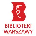 logo wspólne dla bibliotek warszawskich z dopiskiem biblioteki warszawy