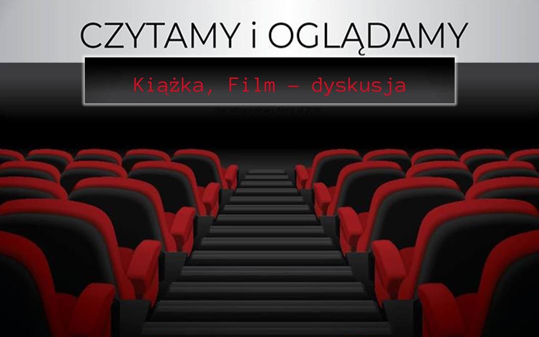 plakat zapraszający do dyskusyjnego klubu książki i filmu