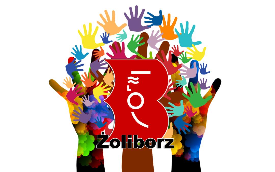 Logo wolontariatu w Bibliotece na Żoliborzu