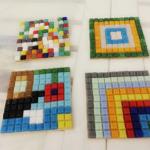 prace wykonane podczas warsztatów obrazki z mozaiki