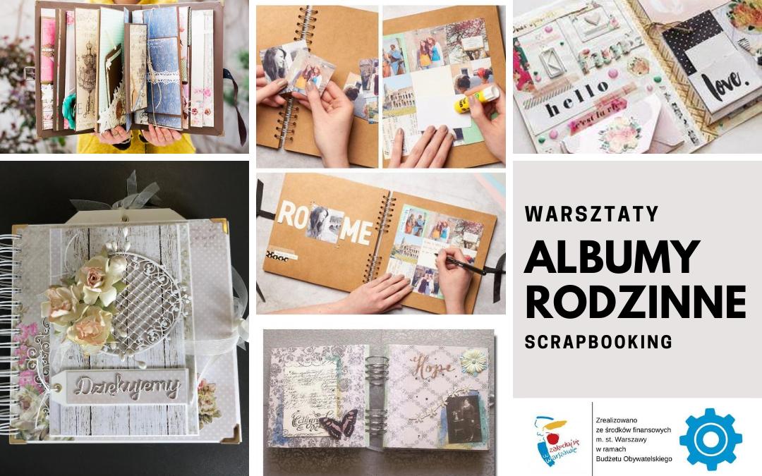Kolaż prac przedstawiający albumy wykonane techniką scrapbooking