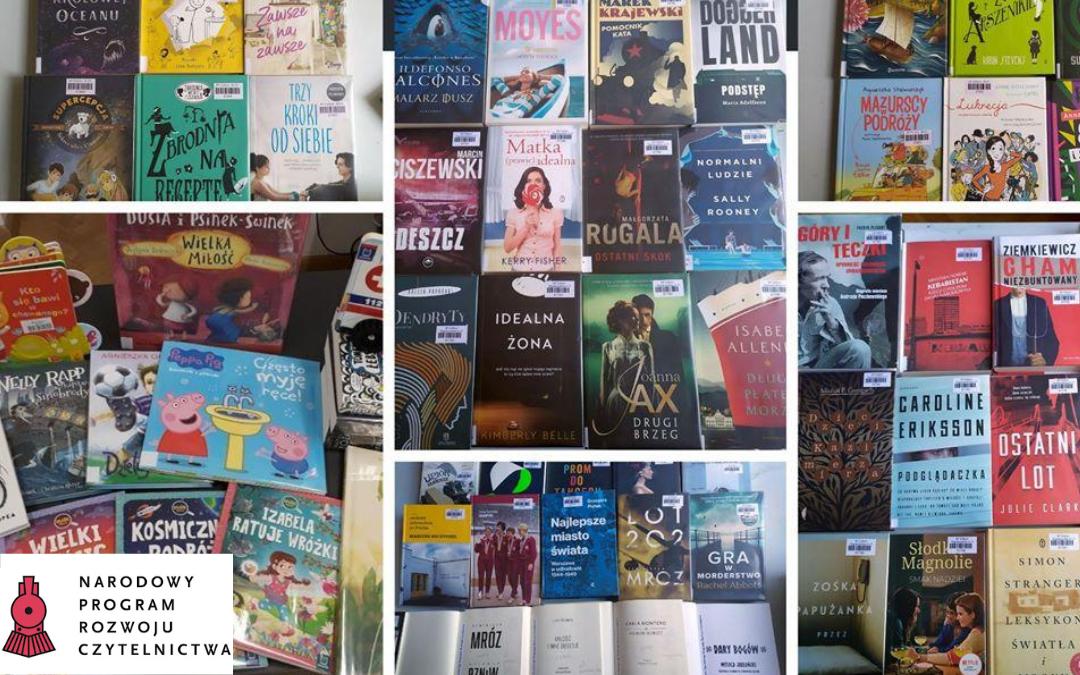 książki kupione z narodowego programu rozwoju czytelnictwa