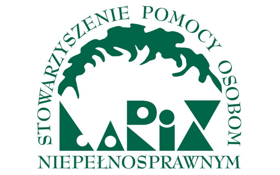 logo stowarzyszenia pomocy osobom niepełnosprawnym larix