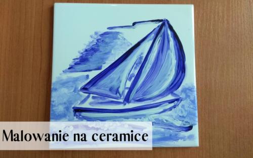 malunek na ceramice - praca warsztatowa