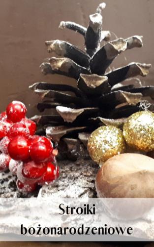 stroik świąteczny - praca warsztatowa