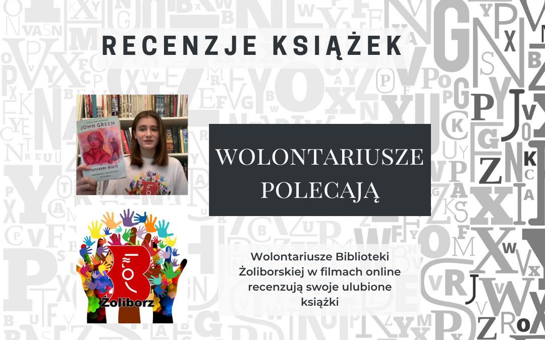 plakat informujący o wideo recenzjach wolontariuszy