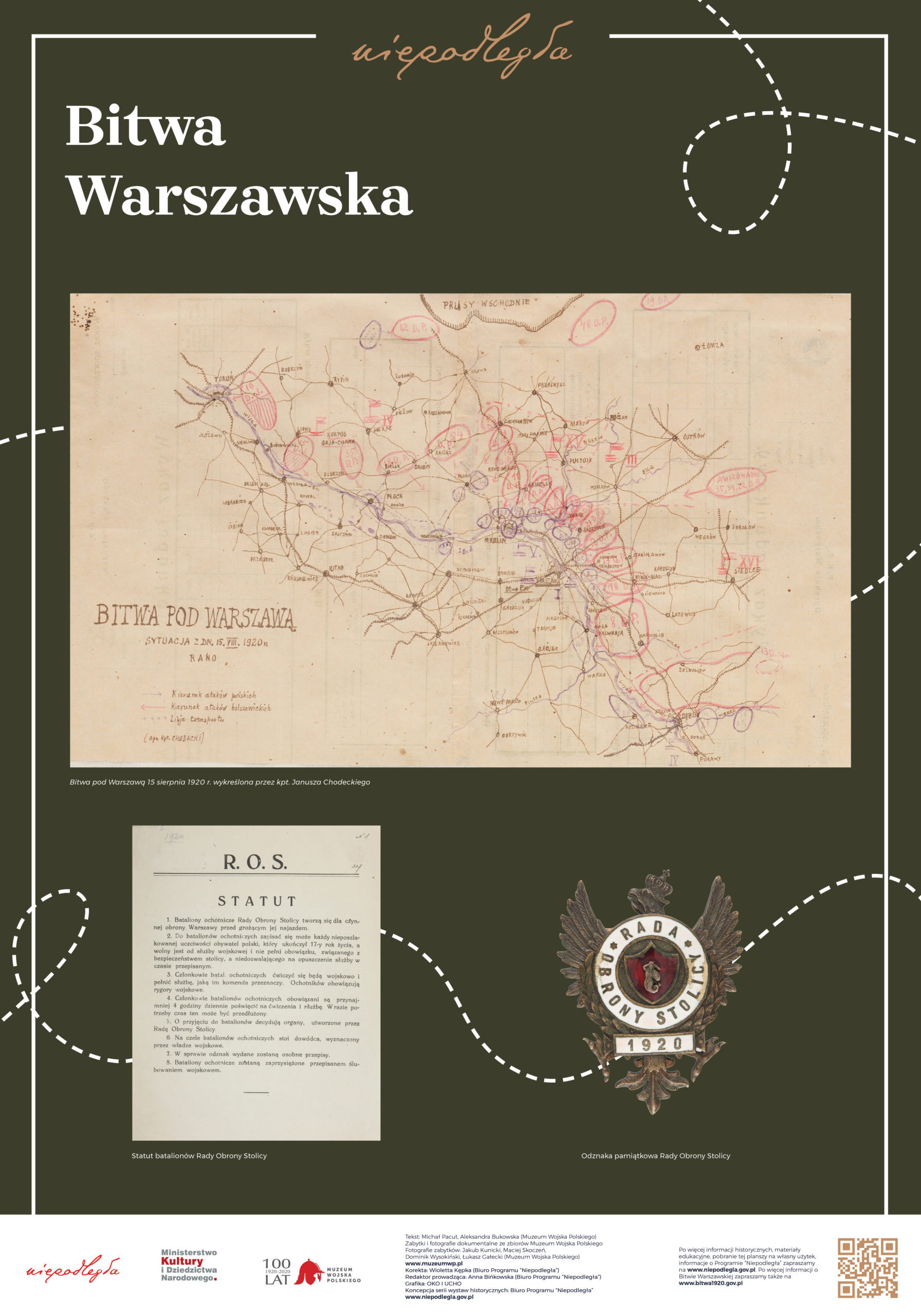 """Plansza z wystawy """"Bitwa Warszawska. Stulecie zwycięstwa"""" pod tytułem Bitwa Warszawska"""