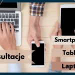 Plakat informujący o konsutacjach komputerowych dla seniorów
