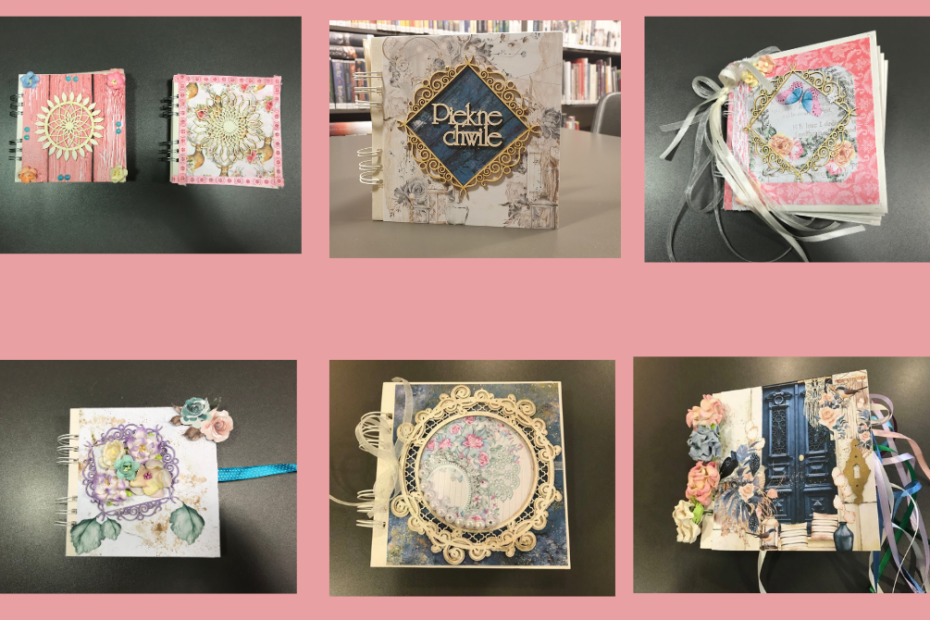 Galeria albumów rodzinnych wykonanych podczas warsztatów odbywających się w Wypożyczalni nr 111