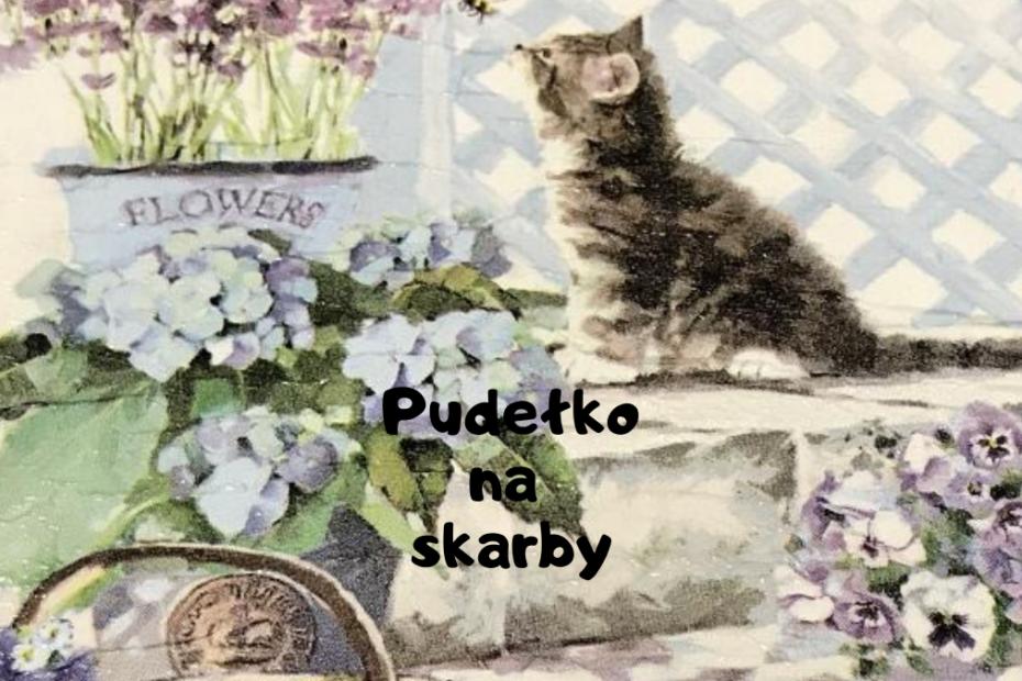 grafika wyróżniająca przedstawiająca kota, pudełko wykonane na poprzednich warsztatach