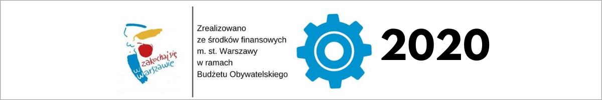 logo budżetu obywatelskiego z dopiskiem 2020