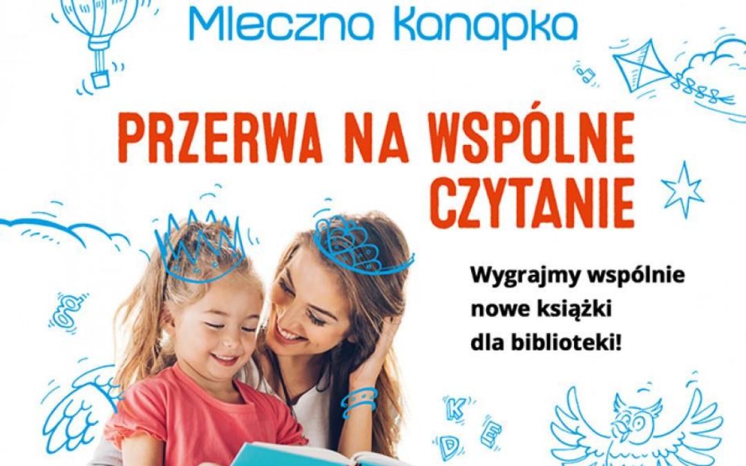 plakat promujący projekt kinder przerwa na wspólne czytanie