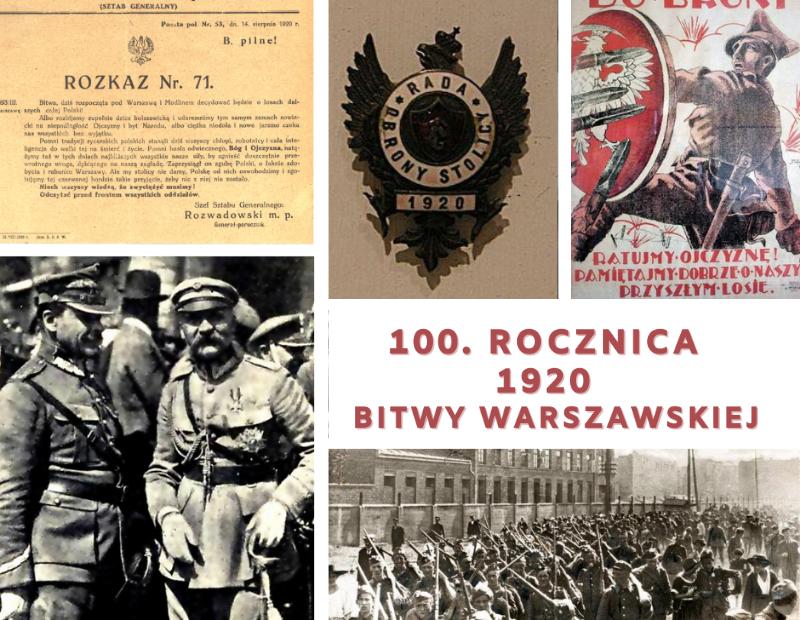 plakat informujący o obchodach rocznicy Bitwy Warszawskiej