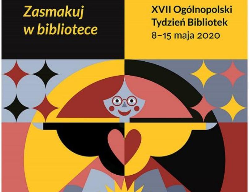 fragment oficjalnego plakatu tygodnia bibliotek