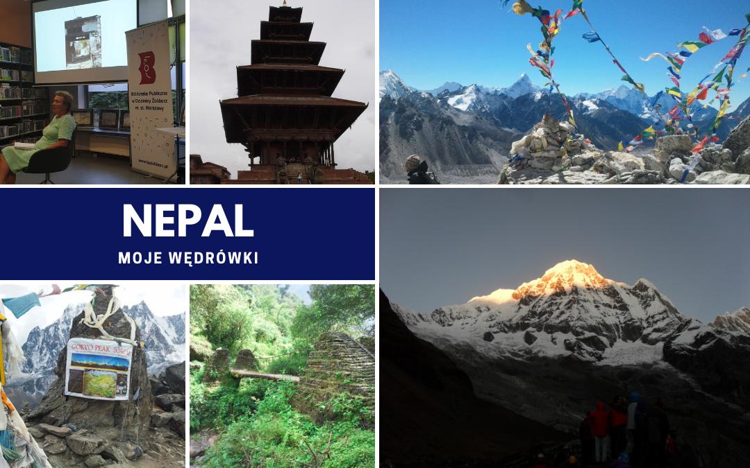 """kolaż zdjęć do filmu """"Nepal moje wędrówki"""""""