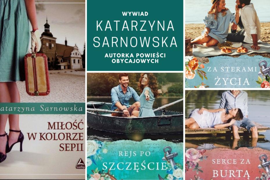 kolaż okładek książek Katarzyny Sarnowskiej