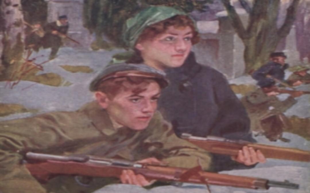 Obrazek wprowadzający. Fragment obrazu W. Kossaka pt. Orlęta