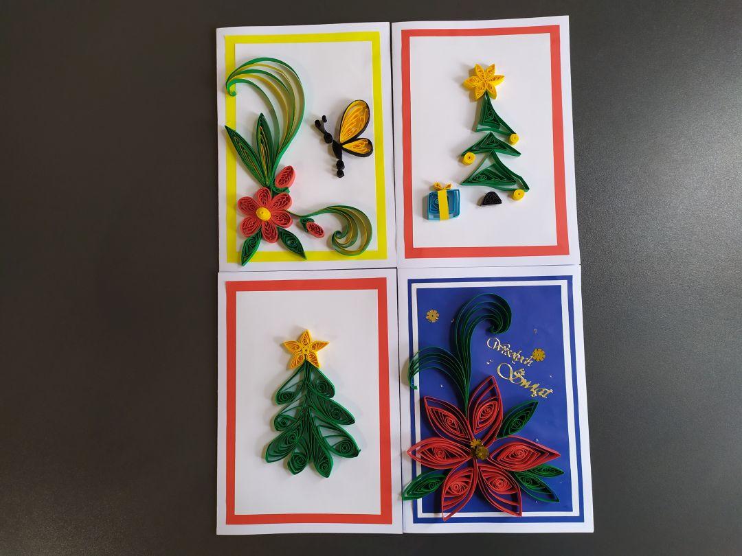 Warsztaty tworzenia kartek świątecznych techniką quillingu