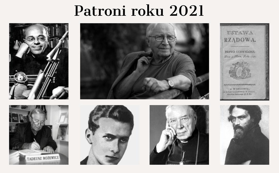 Zdjęcie przedstawiające patronów roku 2021