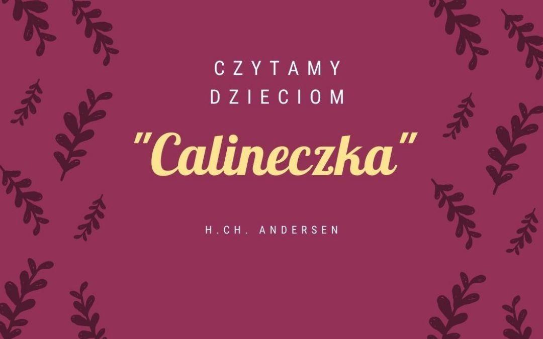 """plakat wyróżniający - zachęcający do wysłuchania bajki pt. """"Calineczka"""""""