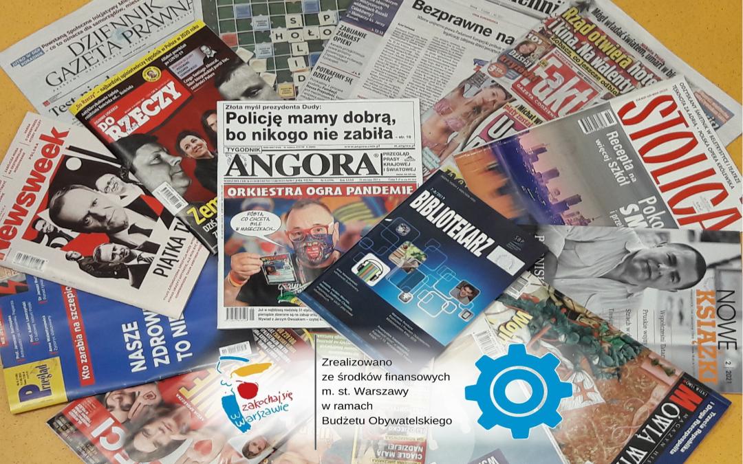 Rozłożone w wachlarz wybrane tytuły prasy