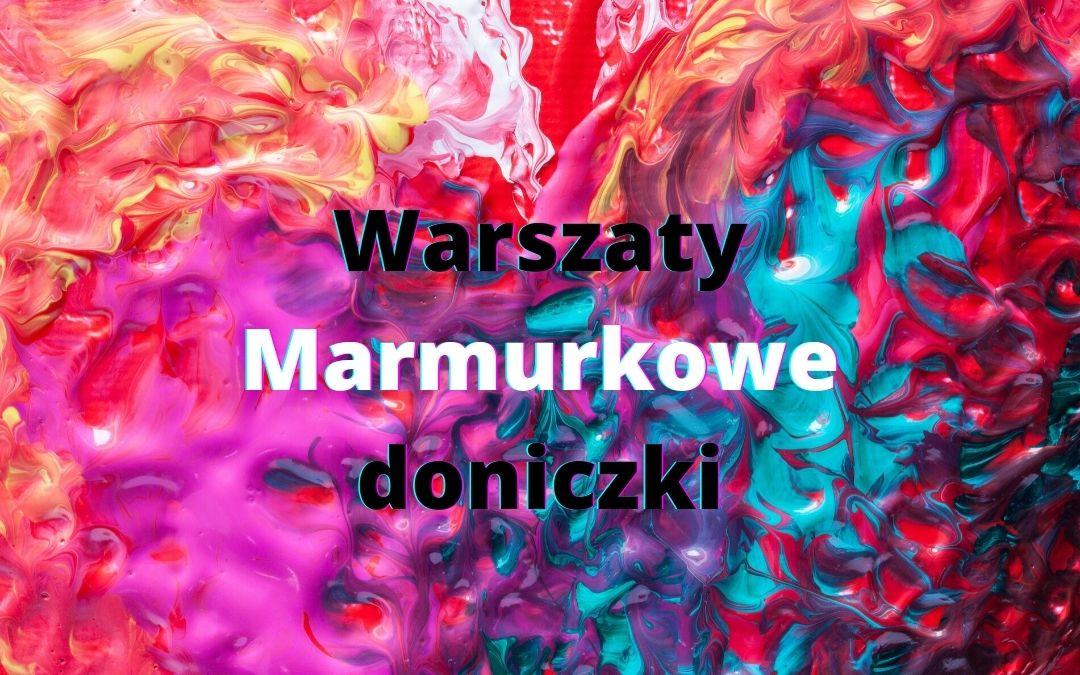 plakat wyróżniający - marmurkowe doniczki