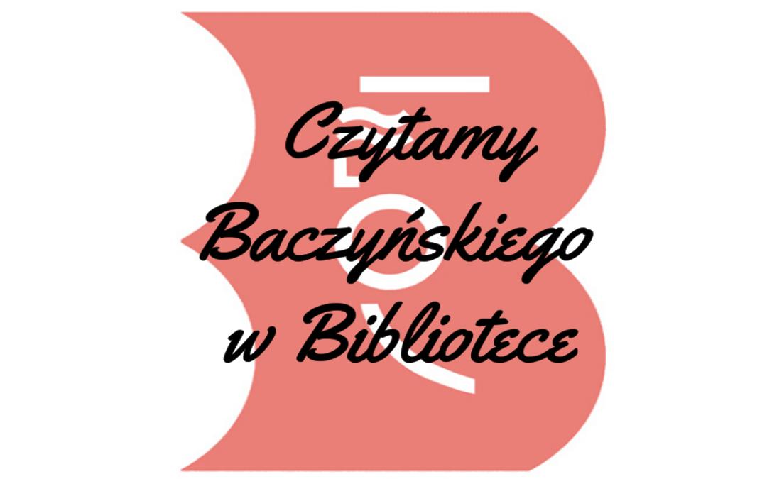 Czytamy baczyńskiego w bibliotece - logo akcji