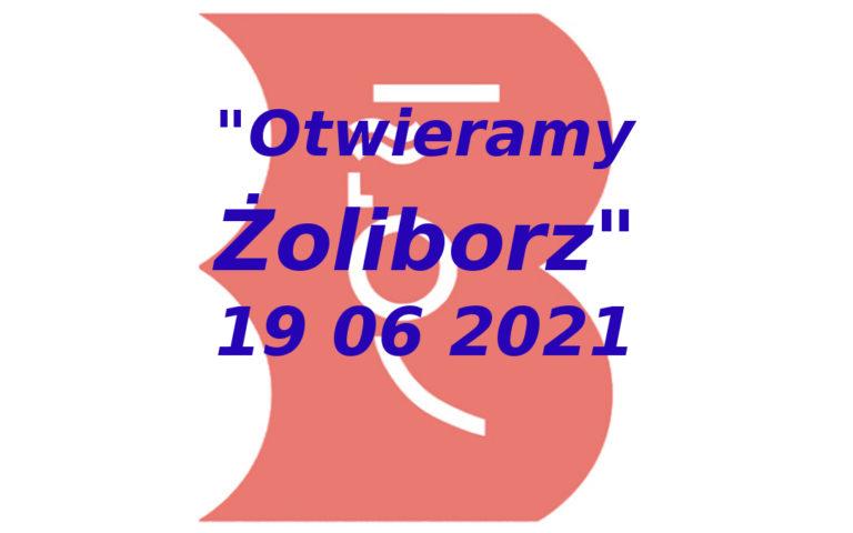 logo imprezy otwieramy żoliborz 2021