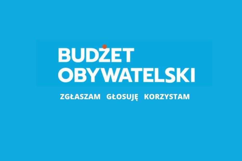 Logo Budżetu Obywatwlskiego 2022. Napis: Budżet Obywatwlski. Zgłaszam, głosuję, korzystam.